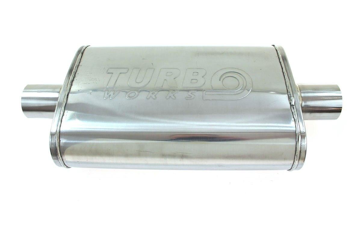 Tłumik Środkowy 76mm TurboWorks LT 409SS - GRUBYGARAGE - Sklep Tuningowy